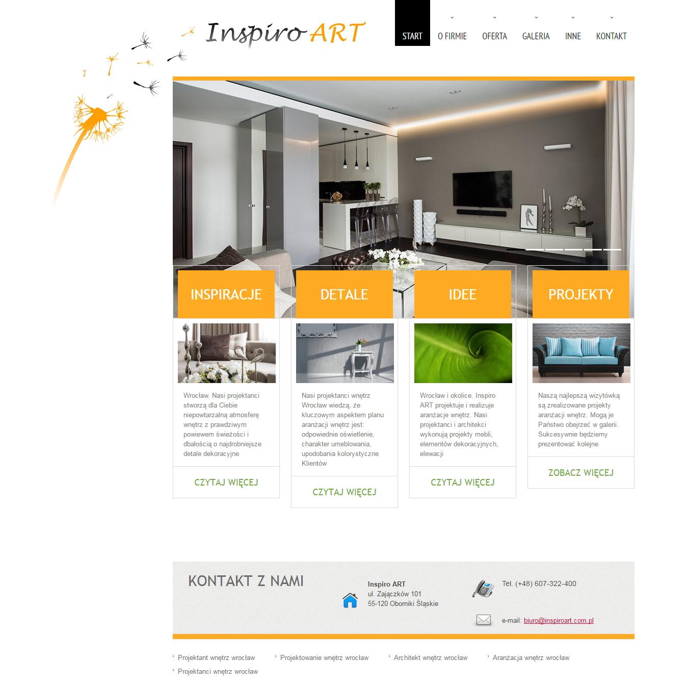 Anna Ryzner - Projektant wnêtrz, architekt wnêtrz Wroc³aw | Inspiro ART